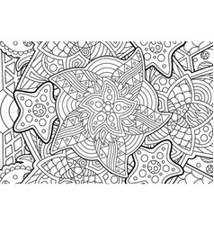 abstract pattern for coloring book with stars vector image