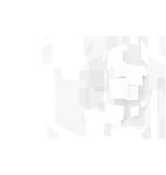 abstract white rectangles shape and high speed vector image