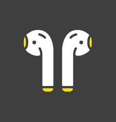 Airpods wireless headphones icon vector
