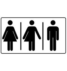 All gender restroom sign male female transgender vector