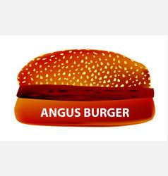 Angus burger vector