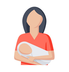 baby in embrace of mother vector image