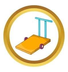 Baggage trolley icon vector