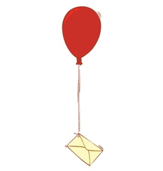 Balloon and letter vector