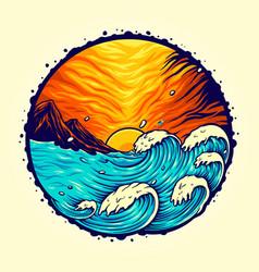 beach landscape tropical summer vector image