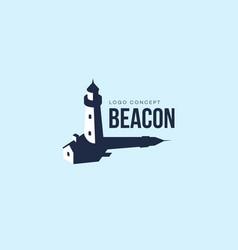 beacon logo vector image