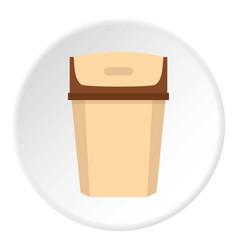 Big trashcan icon circle vector