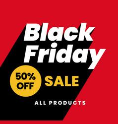 Black friday 50 off sale modern social media vector