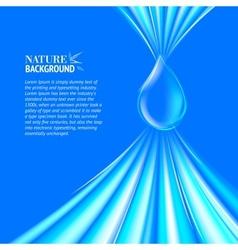 Blue Water drop background vector image