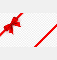 bow red tape on transparent background vector image