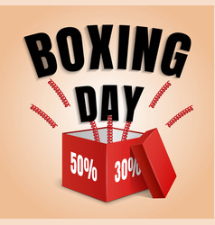 boxing day concept background realistic style vector image