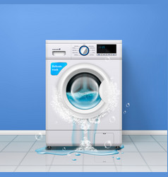 broken washing machine composition vector image