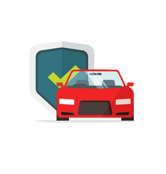 car protection flat cartoon vector image