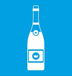 champagne icon white vector image