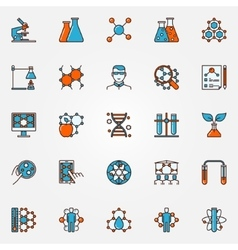 Chemistry and biotechnology icons vector