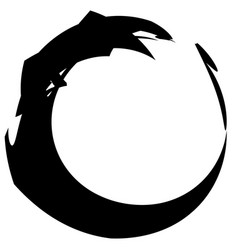 Circular grungy grunge circle frame splatter vector