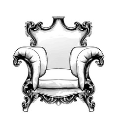 classic armchair royal style decotations vector image