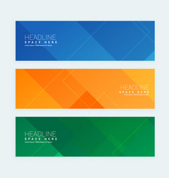 clean geometrical style minimal banners set with vector image