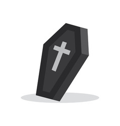 coffin with cross vector image