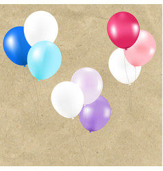 Color pastel balloons vector