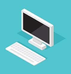 Computer Monitor Isometric decktop vector image