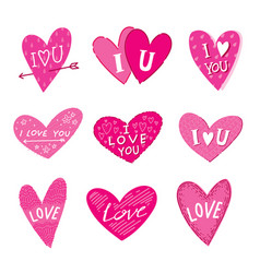 cute heart doodle clip art vector image