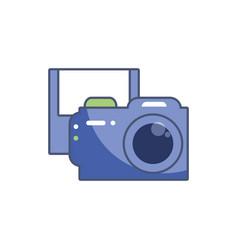 Digital camera and diskette icon fill design vector