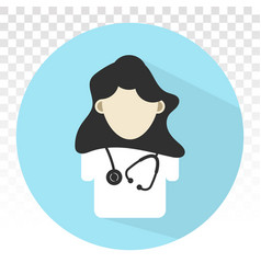 Doctor and stethoscope flat icon for health apps vector