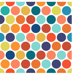 Dotted colorful seamless geometric pattern vector