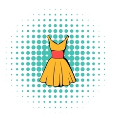 Dress icon comics style vector image