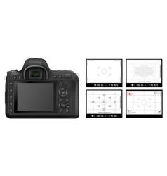 Dslr camera viewfinder vector