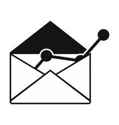 E-mail concept black simple icon vector