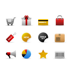 ecommerce icons web icons with shopping vector image
