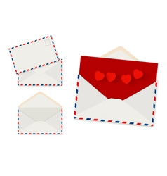 Envelope set on white background vector
