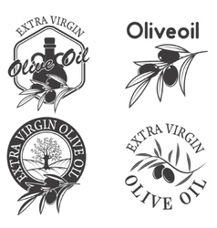 Extra virgin olive oil labels vector