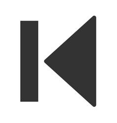 First previous icon vector