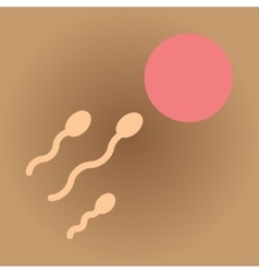 Flat web icon with shadow egg sperm vector