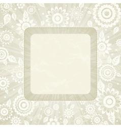 frame of flower on beige background vector image vector image