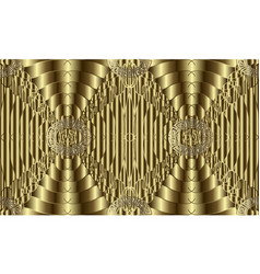 gold 3d textured seamless pattern vector image