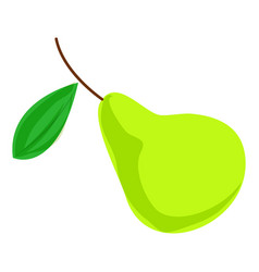 green pear icon cartoon style vector image