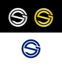 GS initials vector