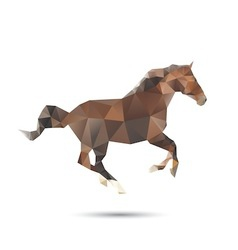 Horse abstract vector image