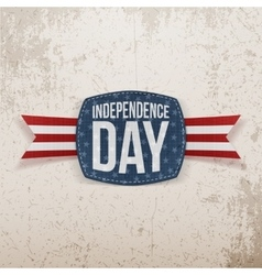 Independence Day festive Tag with Type vector image