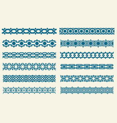 Islamic ornaments link seamless decorative vector