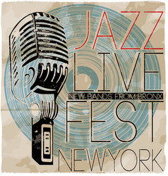 jazz music concert poster vector image