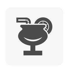 juice icon black vector image