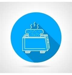 Line icon for toaster vector image