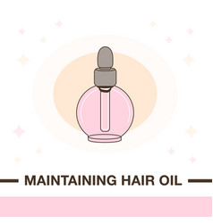 Maintaining hair oil product vector