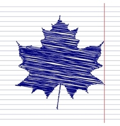 Maple leaf sign vector image