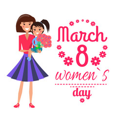 march 8 womens day poster vector image